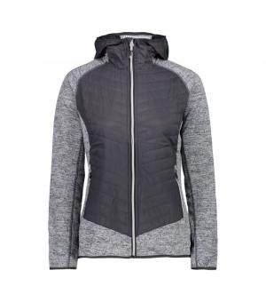 CMP Woman Jacket Fix Hood Hybrid Mikina U423 sivá