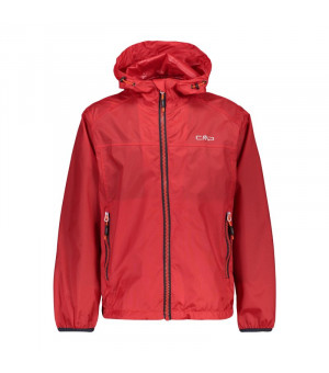 CMP Boy Jacket Fix Hood Bunda C580 červená