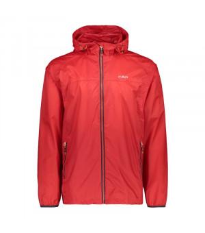 CMP Man Jacket Fix Hood Bunda C580 červená