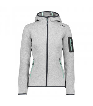 CMP Woman Jacket Fix Hood Mikina 02XC sivá