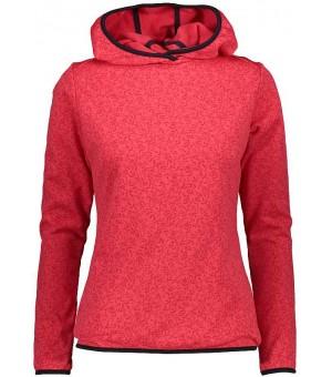 CMP Woman Sweat Fix Hood mikina koralovo červená C712