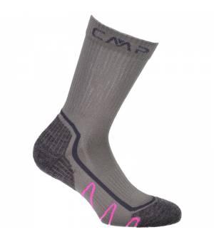 CMP Kids Trekking Sock Poly Mid Ponožky U862 sivé