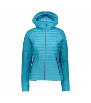 CMP Woman Jacket Zip Hood Bunda L611 tyrkysová