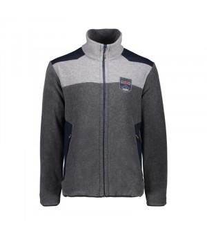 CMP Man Jacket Mikina U817 sivá