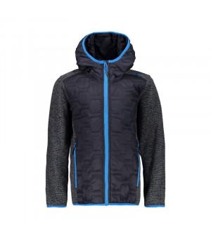 CMP Boy Jacket Fix Hood Hybrid Mikina U423 sivá