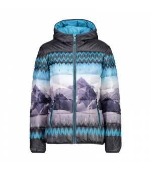 CMP Woman Jacket Fix Hood Bunda 04LD modrá
