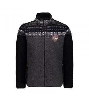 CMP Man Jacket sveter U905 sivý