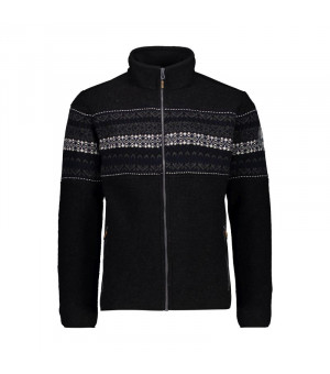 CMP Man Jacket Mikina N950 čierna