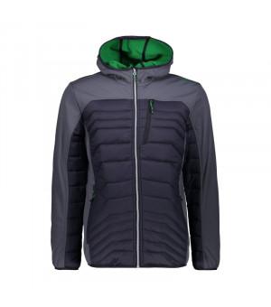 CMP Man Jacket Fix Hood Bunda U887 sivá