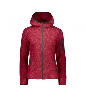 CMP Woman Jacket Fix Hood Mikina C829 červená