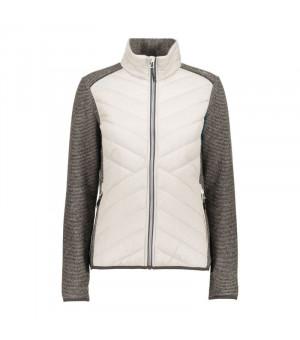 CMP Woman Jacket Hybrid Mikina A12 sivá