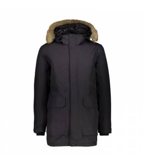 CMP Man Jacket Zip Hood Bunda U973 sivá