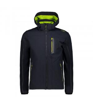 CMP Man Jacket Zip Hood Bunda U423 sivá