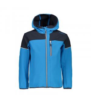CMP Boy Jacket Fix Hood Bunda L565 modrá