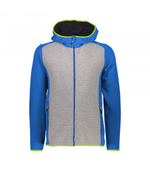 CMP Man Jacket Fix Hood Mikina M962 modrá