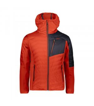 CMP Man Jacket Hybrid Fix Hood Bunda L565 oranžová