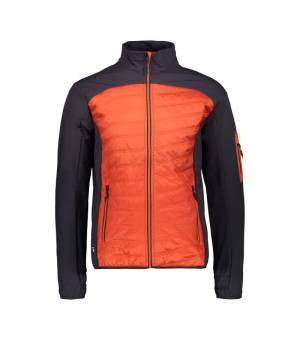 CMP Man Jacket Hybrid Bunda C783 oranžová