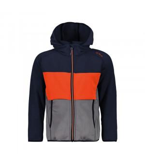 CMP Boy Jacket Fix Hood Mikina N950 modrá