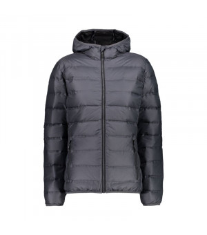 CMP Woman Jacket Fix Hood Bunda U887 sivá