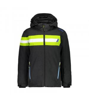 CMP Boy Jacket Snaps Hood Bunda U973 sivá