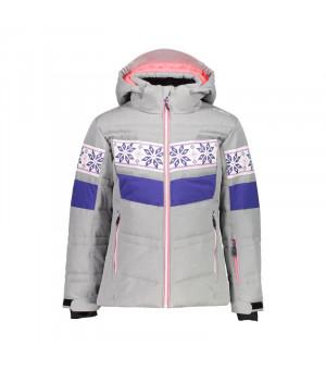 CMP Girl Jacket Snaps Hood Bunda U403 sivá