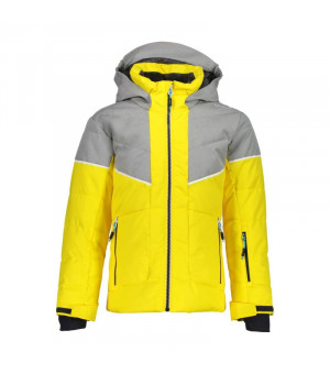 CMP Girl Jacket Fix Hood Bunda R411 žltá