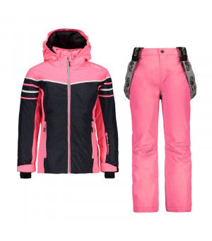 CMP Girl Set Jacket+Pant Komplet U423 sivý