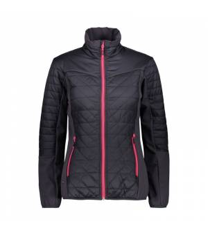 CMP Woman Jacket Hybrid bunda U423 sivá
