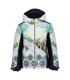 CMP Girl Jacket Fix Hood Bunda 12ZD modrá