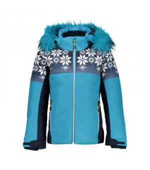 CMP Girl Jacket Snaps Hood Bunda L609 modrá
