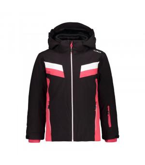 CMP Girl Jacket Snaps Hood Bunda U901 čierna