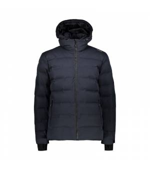 CMP Man Mid Jacket Fix Hood bunda U423 sivá