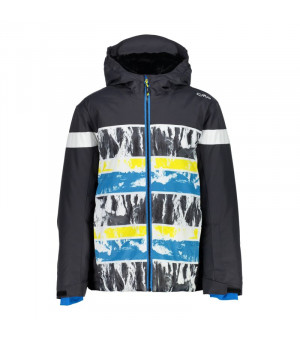 CMP Boy Jacket Fix Hood Bunda 15DZ sivá