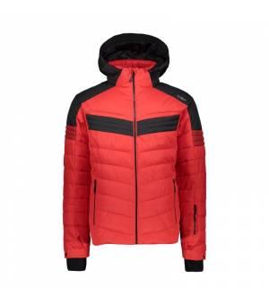CMP Man Jacket Zip Hood bunda C580 červená