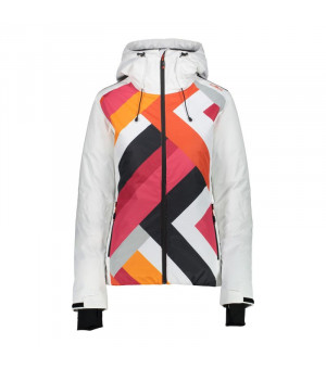 CMP Woman Jacket Fix Hood Bunda  A001 biela