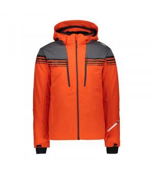 CMP Man Jacket Zip Hood Bunda C783 oranžová