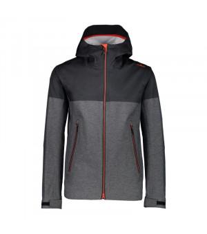 CMP Bunda Man Jacket Fix Hood U423 sivá