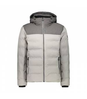 CMP Man Mid Jacket Fix Hood bunda P674 sivá