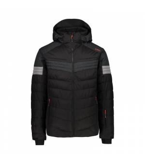 CMP Man Jacket Zip Hood bunda U901 čierna
