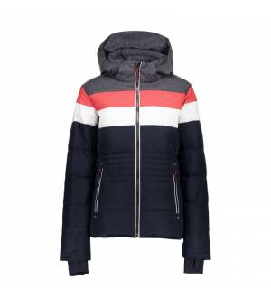 CMP Woman Jacket Zip Hood bunda N950 modrá
