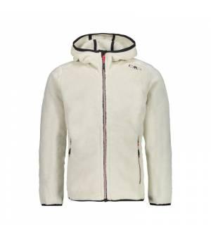 CMP Girl Jacket Fix Hood mikina A212 béžová