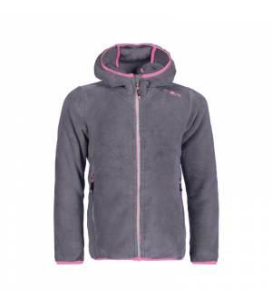 CMP Girl Jacket Fix Hood mikina U887 sivá
