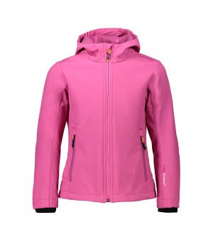 CMP GIRL JACKET FIX HOOD SOFTSHELL BUNDA RUŽOVÁ