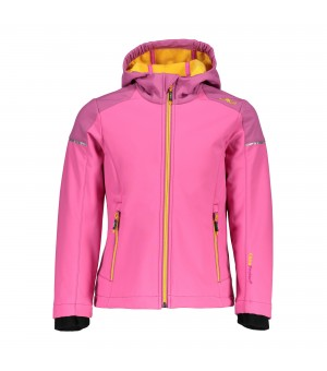 CMP GIRL JACKET FIX HOOD SOFTSHELL BUNDA B375 RUŽOVÁ