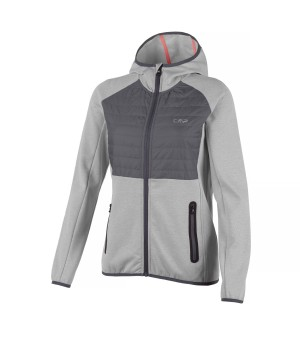 CMP WOMAN FIX HOOD HYBRID JACKET BUNDA SIVÁ