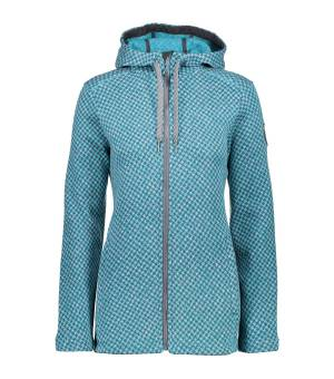 CMP WOMAN FIX HOOD JACKET BUNDA MODRÁ
