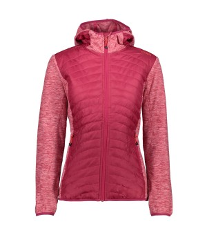 CMP WOMAN JACKET FIX HOOD HYBRID RUŽOVÁ