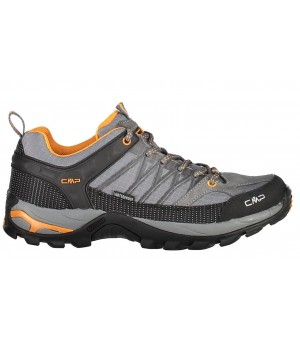 CMP MAN RIGEL LOW TREKKING SHOES WP OBUV SIVÁ