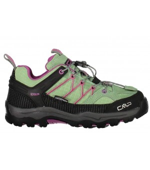 CMP KIDS RIGEL LOW TREKKING SHOES WP OBUV 14AK ZELENÁ