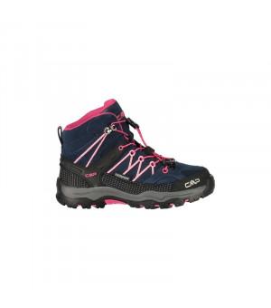 CMP Kids Rigel Mid Trekking Shoe WP 80BN modré